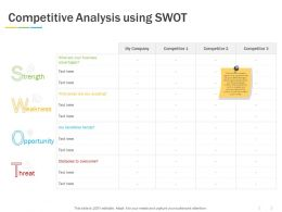 Competitive Analysis Using SWOT Ppt Powerpoint Presentation Portfolio Gallery