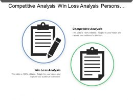 Competitive Analysis Win Loss Analysis Persons Scenarios Product Contract