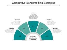 Competitive Benchmarking Examples Ppt Powerpoint Presentation Summary Cpb
