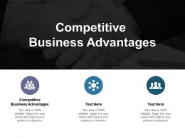 Competitive Business Advantages Ppt Powerpoint Presentation Professional Skills Cpb
