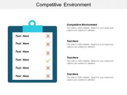 Competitive Environment Ppt Powerpoint Presentation File Introduction Cpb