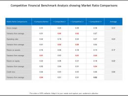 Competitive Financial Benchmark Analysis Showing Market Ratio Comparisons