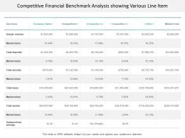 Competitive Financial Benchmark Analysis Showing Various Line Item