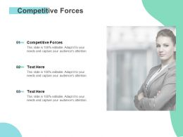 Competitive Forces Ppt Powerpoint Presentation Icon Themes Cpb
