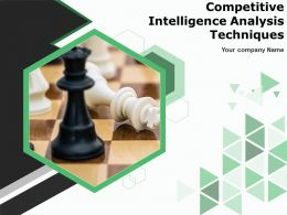 Competitive Intelligence Analysis Techniques Powerpoint Presentation Slides