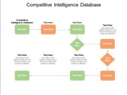 Competitive Intelligence Database Ppt Powerpoint Presentation Show File Formats Cpb
