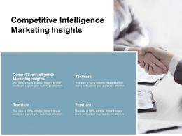 Competitive Intelligence Marketing Insights Ppt Powerpoint Presentation Model Vector Cpb