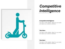 Competitive Intelligence Ppt Powerpoint Presentation Ideas Background Images Cpb