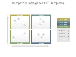 Competitive Intelligence Ppt Templates