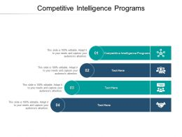 Competitive Intelligence Programs Ppt Powerpoint Presentation Icon Design Templates Cpb