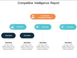 Competitive Intelligence Report Ppt Powerpoint Presentation File Layout Ideas Cpb