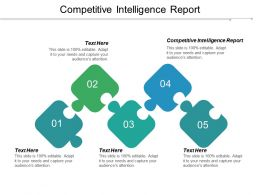 Competitive Intelligence Report Ppt Powerpoint Presentation Gallery Guide Cpb