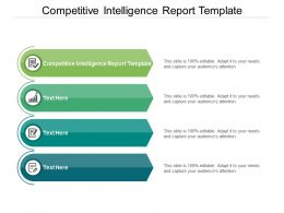 Competitive Intelligence Report Template Ppt Powerpoint Presentation Model Cpb