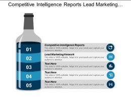 Competitive Intelligence Reports Lead Marketing Network Email Marketing Cpb
