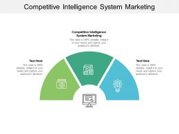 Competitive Intelligence System Marketing Ppt Powerpoint Presentation File Designs Cpb