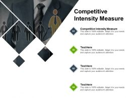 Competitive Intensity Measure Ppt Powerpoint Presentation Ideas Design Cpb