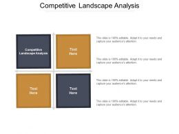 Competitive Landscape Analysis Ppt Powerpoint Presentation File Example Introduction Cpb