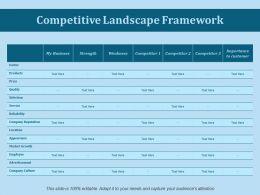 Competitive Landscape Framework Ppt Slides Gallery