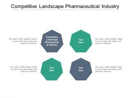 Competitive Landscape Pharmaceutical Industry Ppt Powerpoint Presentation Professional Guidelines Cpb