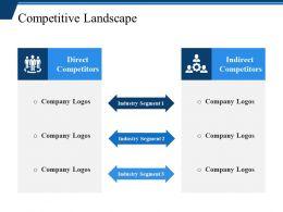 Competitive Landscape Powerpoint Slide Graphics