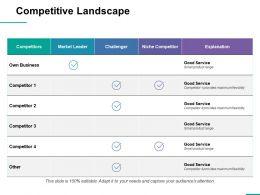 Competitive Landscape Ppt Professional Vector