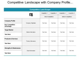 Competitive Landscape With Company Profile Competitors And Target Market