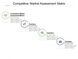 Competitive Market Assessment Matrix Ppt Powerpoint Presentation Layouts Templates Cpb