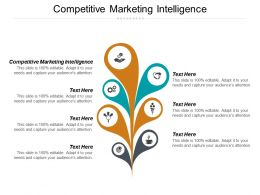 Competitive Marketing Intelligence Ppt Powerpoint Presentation Gallery Rules Cpb