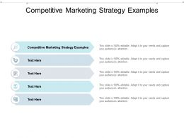 Competitive Marketing Strategy Examples Ppt Powerpoint Presentation Outline Background Cpb
