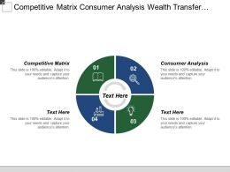 Competitive Matrix Consumer Analysis Wealth Transfer Legacy Planning