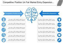 Competitive Position Un Fair Market Entry Expansion Business Reorganization