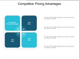 Competitive Pricing Advantages Ppt Powerpoint Presentation Gallery Structure Cpb