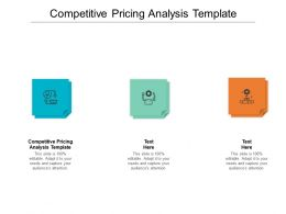 Competitive Pricing Analysis Template Ppt Presentation Gallery Inspiration Cpb