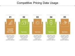 Competitive Pricing Data Usage Ppt Powerpoint Presentation File Template Cpb