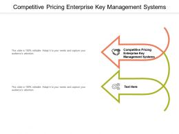 Competitive Pricing Enterprise Key Management Systems Ppt Powerpoint Presentation Portfolio Icon Cpb
