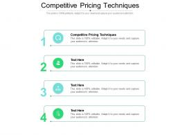 Competitive Pricing Techniques Ppt Powerpoint Presentation Show Gridlines Cpb