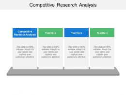 Competitive Research Analysis Ppt Powerpoint Presentation File Inspiration Cpb