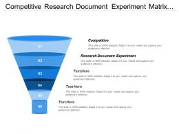 Competitive Research Document Experiment Matrix Structure Creative Synthesis