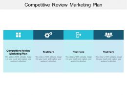 Competitive Review Marketing Plan Ppt Powerpoint Presentation Model Show Cpb