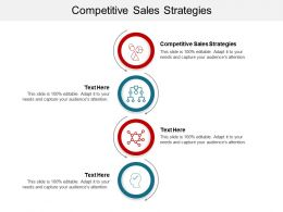 Competitive Sales Strategies Ppt Powerpoint Presentation Outline Objects Cpb
