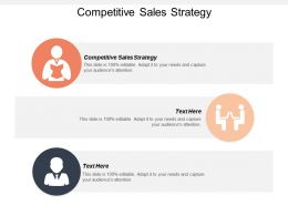 Competitive Sales Strategy Ppt Powerpoint Presentation File Design Inspiration Cpb