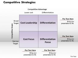 Competitive Strategies Powerpoint Presentation Slide Template