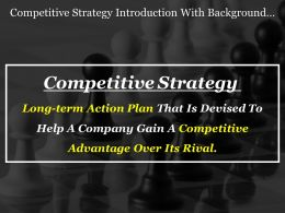 Competitive Strategy Introduction With Background Image