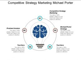 Competitive Strategy Marketing Michael Porter Strategy Problem Solution Cpb