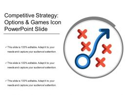 Competitive Strategy Options And Games Icon Powerpoint Slide