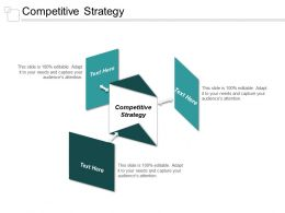 Competitive Strategy Ppt Powerpoint Presentation Styles Background Designs Cpb