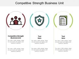Competitive Strength Business Unit Ppt Powerpoint Presentation Show Portrait Cpb