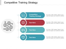 Competitive Training Strategy Ppt Powerpoint Presentation Layouts Maker Cpb
