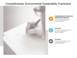 Competitiveness Environmental Sustainability Framework Ppt Powerpoint Presentation Icon Vector Cpb
