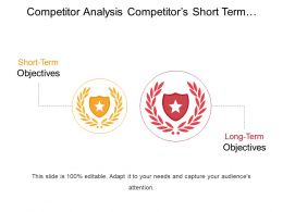 Competitor Analysis Competitors Short Term And Long Term Goals Ppt Icon